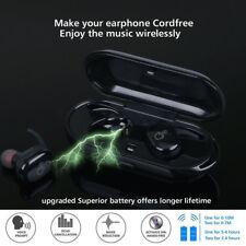 Mini True Wireless Bluetooth Twins Stereo In-Ear Headset Earphone Earbuds Black