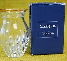 "Marquis Waterford - Hanover Gold Posy 4"" Bud Vase - Crystal Glass - IN BOX"