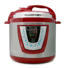 Pressure Pro 6-Quart Electric Pressure Cooker in Red by Harvest Cookware New