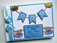 DISNEY DUMBO BOY/GIRL /FIRST/1ST BIRTHDAY/BABY SHOWER GUEST BOOK - ANY DESIGN
