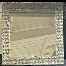 Modern Silver Mosaic Esk Square Wall Mirror NEW Bathroom Hall Bedroom 40cm
