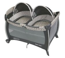 Graco Twin Pack 'N Play Playard Twins Bassinet Vance PlayPen Double Baby New
