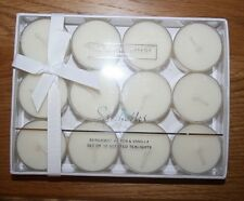 The White Company Seychelles Set of 12 Tea Lights / Candles NEW In Sealed Box