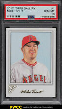2017 Topps Gallery Mike Trout #1 PSA 10 GEM MINT (PWCC)