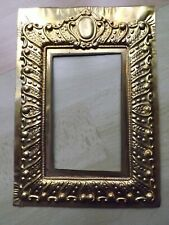 Pressed Brass Template For Victorian Design Embossed 21 cm x 15 cm Photo Frame