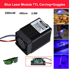 Focusable 2.5w 450nm 2500mW Blue Laser Module 12V TTL CNC Engraving with Goggles