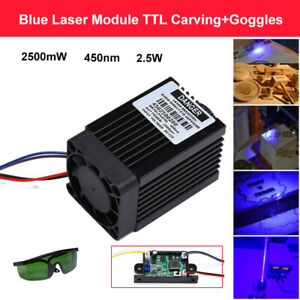 Focusable High Power 2.5w 450nm 2500mW Blue Laser Module TTL CNC Goggles