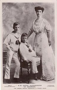 FOREIGN ROYALTY :H.R.H. Queen Alexandrina of Denmark+ sons RP-BEAGLES