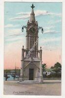 Clock Tower Torquay Devon 1910 Postcard St Mary Church Skeleton Postmark 707b
