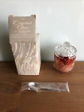 Avon Crystal Clear Hostess Decanter Strawberry Bubble Bath Gelee w/box Free gift