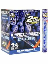 Cyclones Clear Blueberry - 8 TUBES - PreRolled Flavor Transparent 2 Cones Pack