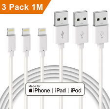 3X USB Cable Lighting Data Sync Charging For Apple iPhone 11 Pro X XR XS SE 2020