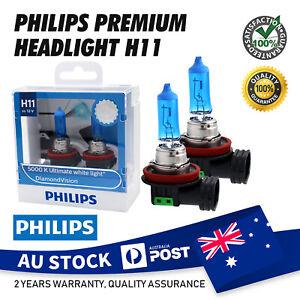2X PHILIPS H11 DIAMOND VISION Halogen Headlight Bulbs 5000K 12V 55W White VS HID