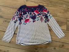 Ladies Designer Joules Long Sleeve Top Striped Size 14 Floral Ladies Cotton