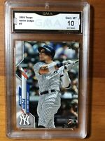 2020 Topps Series 1 AARON JUDGE #7 GMA 10 Gem Mint NY Yankees
