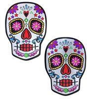 Cache-tétons nippies pasties adhésifs crâne mexicain sugar candy skull coloré