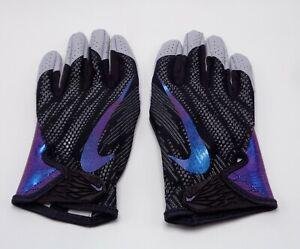 Nike Vapor Knit 2.0 Football Gloves Men's Large Black/Iridescent/Cool Grey
