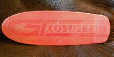 GT Coyotte III  vintage skate board old school plastic