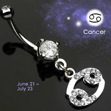 Bauchnabel Piercing Schmuck Sternzeichen Krebs Anhänger Horoskop