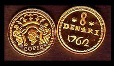 ★★ CORSE : RARE COPIE PLAQUEE OR DE LA 8 DENARI 1762 MURATO ★★★ NEUVE FDC