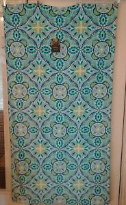 BRAND NEW 100% Cotton Nicole Miller Brand Blue Geometric Themed Beach Towel