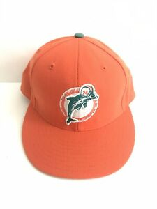 Vintage Mitchell & Ness Miami Dolphins Hat Fitted 7 1/2 Nostalgia