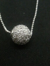 Classy 0.98 Cts Round Brilliant Cut Diamonds Chain Pendant In 18Karat White Gold