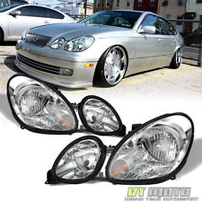 1998-2005 Lexus GS300 GS430 GS400 Replacement Headlights Headlamps Left+Right