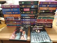 HUGE LOT OF 34 TITLES VC ANDREWS PAPERBACK BOOK lot Shooting stars Landry