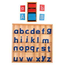 Kids Montessori Funny Learning Wooden Toy Movable Letter Box + Alphabet Card