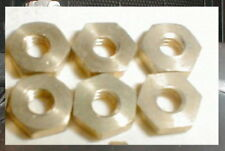 6 Special Brass Axle Nuts Made for Revell Only 7/32  (5.5mm)   1/8    5:40 NOS