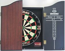 Winmau DUAL CORE Blade 5 FIVE Dart Board & Rosewood Wooden Cabinet + 6 x Darts