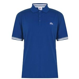 Lonsdale Mens Jersey Polo Shirt Classic Fit Tee Top Short Sleeve Button Placket