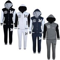 Kids Original University Print Tracksuit Boys Girls 2 Piece Tracksuit 3-14 Y