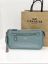 NWT Coach F53078 Nolita 24 Wristlet Wallet Pebble Leather Bag Purse Cloud $175