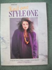 Knit One, Style One Knitting Pattern Book by Lesley Stanfield,St Michael