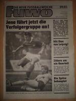 FUWO 39 - 24.9. 1985 ** Thom Zötzsche Jena-Riesa 5:1 Zwickau-Aue 3:3 BFC-Lok 1:0