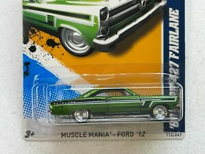 HOT WHEELS 2012 SUPER TREASURE HUNT 66 FORD 427 FAIRLANE #2/10 WITH RUBBER TIRES