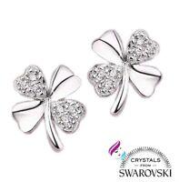 Orecchini argento marcato 925 punto luce e cristalli swarovski originali