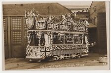 Tram Car Decorated For Royal Visit, Leeds 1908 RP Postcard B882