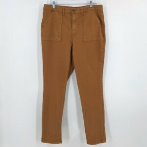 Time And True High Rise Skinny Jeans 16 Womens Carmel Toffee Brown Pockets