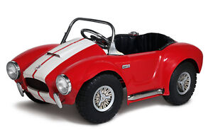 Kid's Shelby Cobra Pedal Car Red with White Stripes by Morgan Cycle 21117