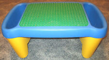 LEGO DUPLO LAP PLAY TABLE blue yellow Storage green baseplate children - used