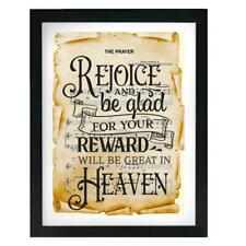 Rejoice & Be Glad on Prayer Sheet Music Art Print Religious Wall Decor Gift