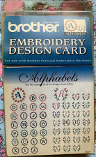 New Brother Alphabet Embroidery Design Card Ec31