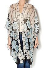 NWT New Anna Sui Silk Sheer Kimono Wrap Tunic Blouse Top Women's Size M EUR M