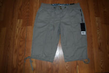 NWT Womens ONE 5 ONE Weight Pull On Capris Shorts Gray Size XXL