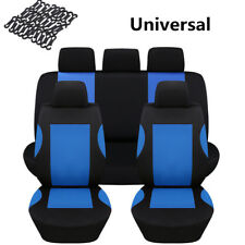 Racing Style SUV Car Interior Seat Covers 9pcs/set Front/Rear Cover Black/Blue