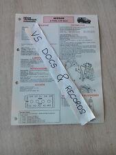 FICHE TECHNIQUE AUTOMOBILE RTA NISSAN X-TRAIL 2.0 E SPORT (n°17)