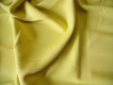 HEAVY RIBBED CORD JERSEY-YELLOW -DRESS FABRIC-FREE P&P